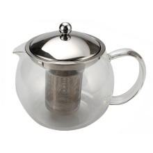 Glass Tea Pot With A removable Tea Strainer